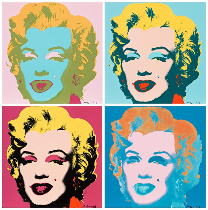 marilyn monroe set of four ceramic tiles deutscher and. Black Bedroom Furniture Sets. Home Design Ideas
